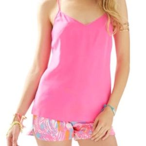 NWT Lilly Pulitzer Pink Tank Camisole- adjustable!